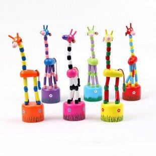 wooden giraf toy