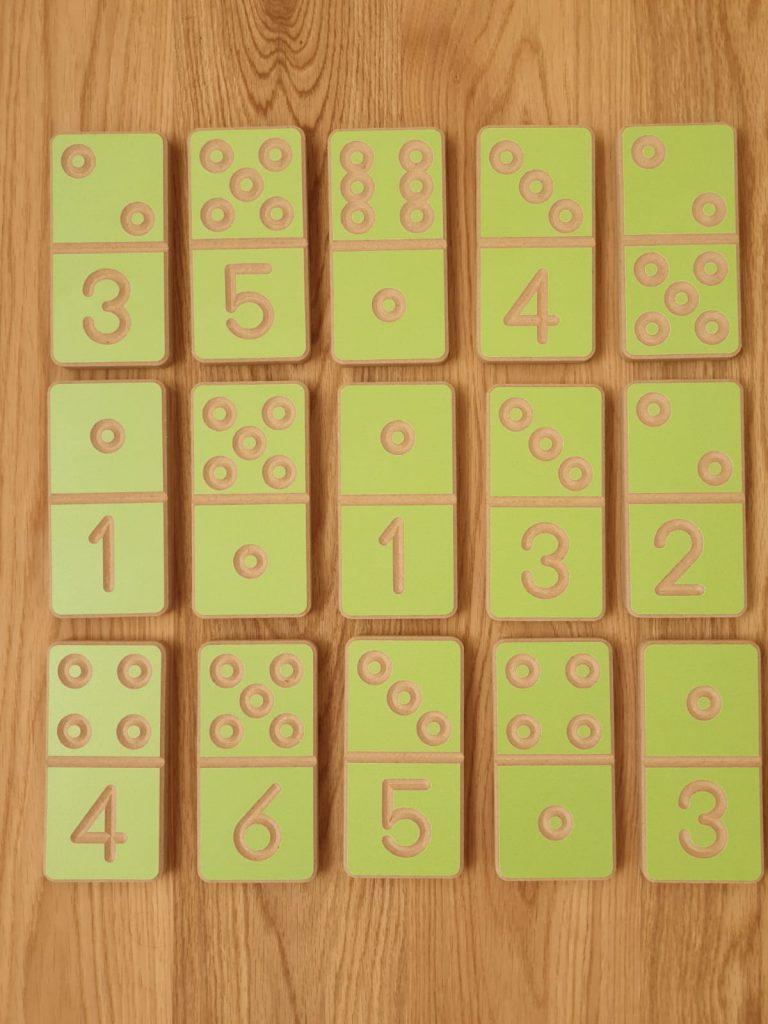 מארז מהודר דומינו מספרים וכמויות מעץ
